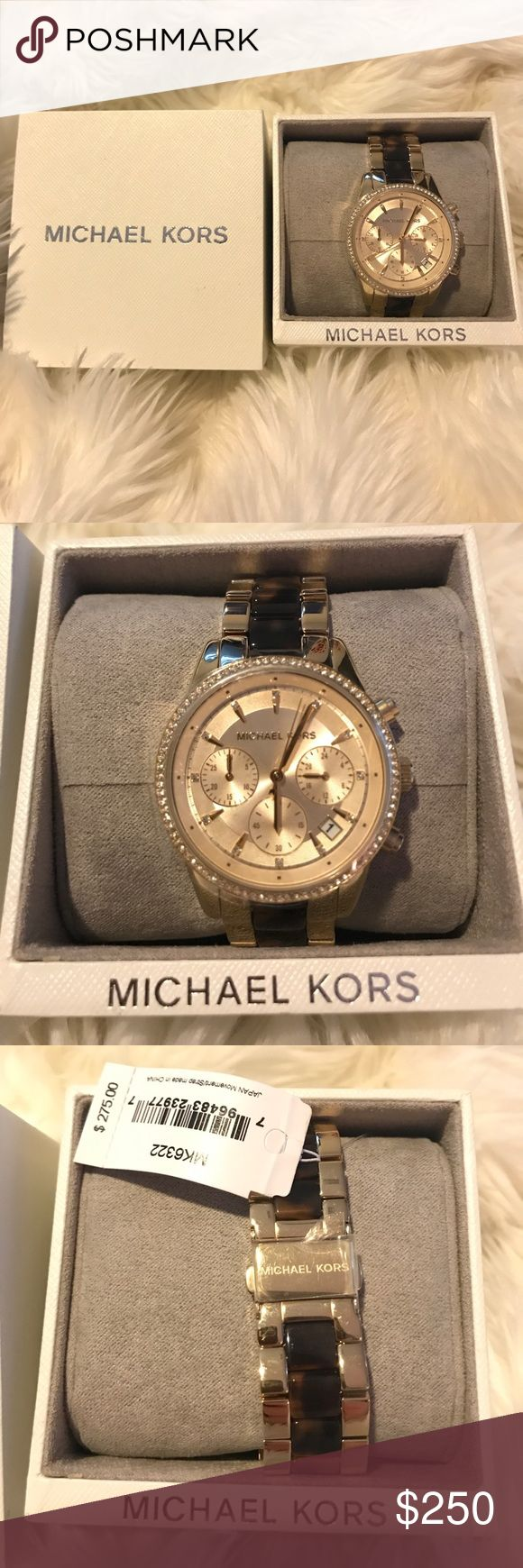 MICHAEL KORS GOLD AND TORTOISE WATCH BEAUTIFUL MICHAEL KORS GOLD AND TORTOISE WATCH, NWT, perfect for work or a night out! Michael Kors Accessories Watches