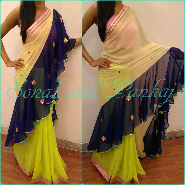 Designer Drapes-By Sonal Daga. Contact :  Call 096691 66763. Email :  scarletmapleboutique@gmail.com.