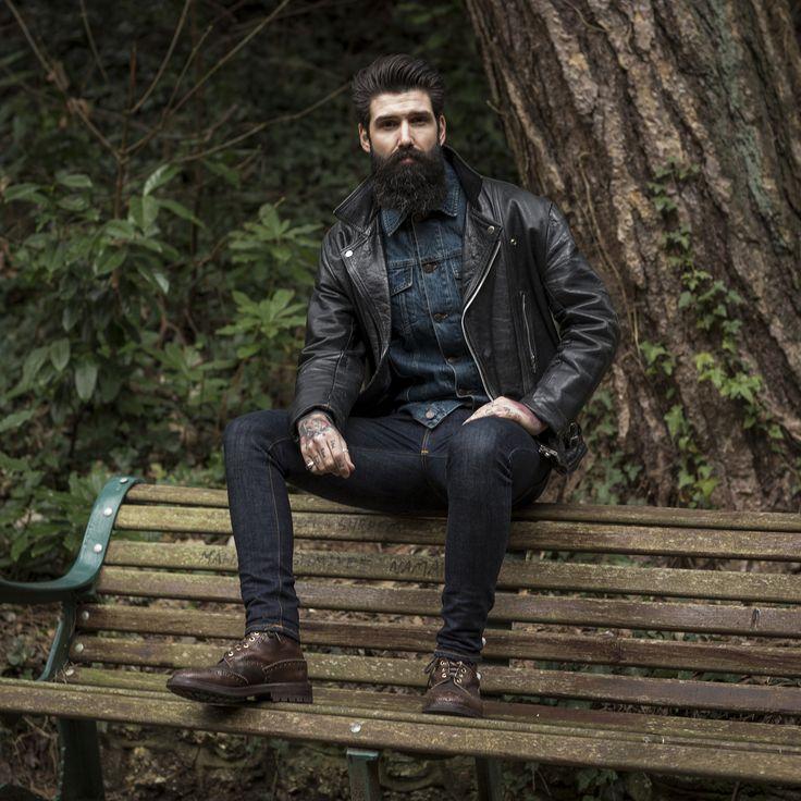 17 best images about black leather biker jacket on pinterest street style london leather. Black Bedroom Furniture Sets. Home Design Ideas