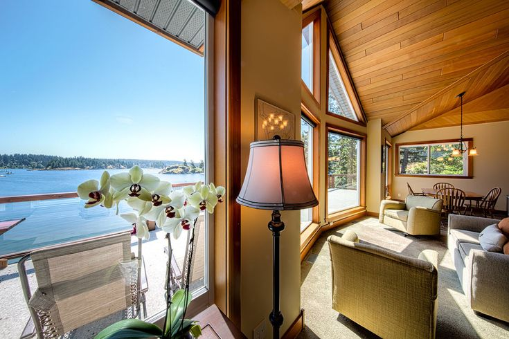 """""""Like"""" if you love this view from our honeymoon suite! Perched at the water's edge of the harbour, this one-bedroom luxury suite also has a gorgeous gourmet kitchen and spa bathroom."""