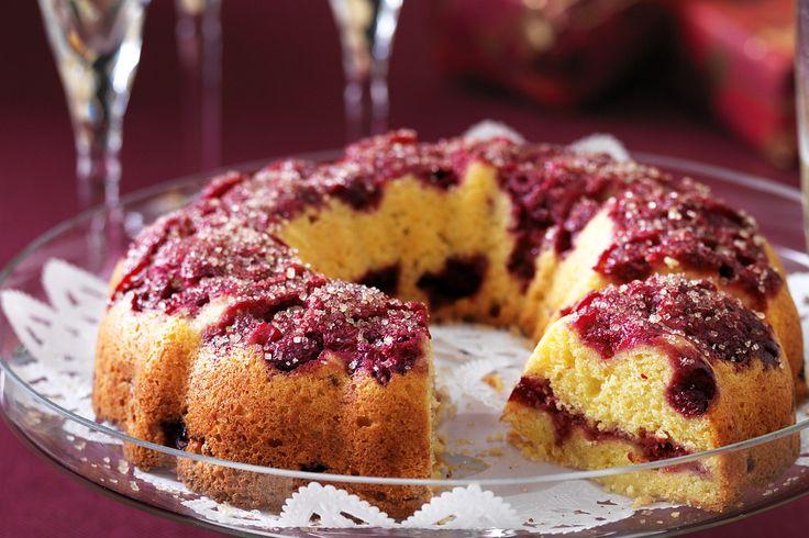 Festive recipes - Raspberry & orange upside-down cake http://ow.ly/exjeJ
