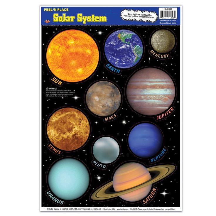 Store og flotte wallstickers med planeterne i vores solsystem til børneværelset.