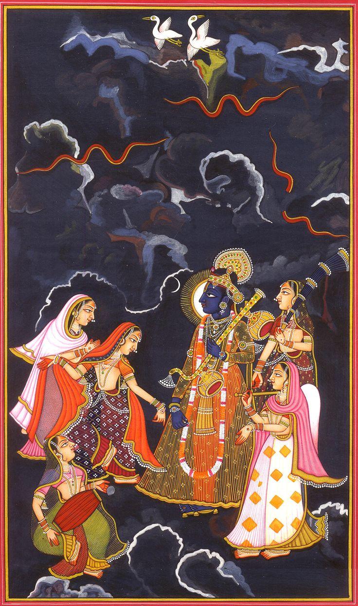 Raga Megha: A Ragamala Folio  https://uk.pinterest.com/keithdgale/indian-painting-1100-1900/