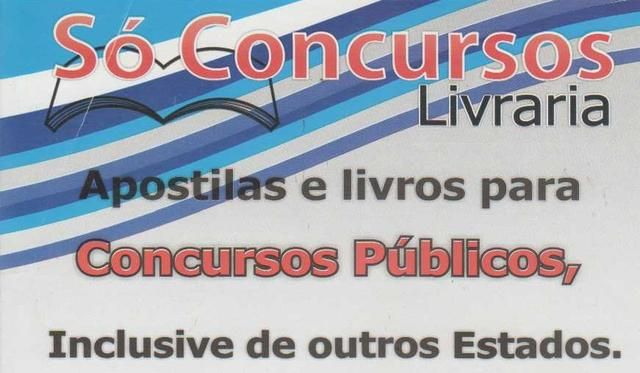 Eu recomendo Só Concursos Livraria- Campinas, #Goiânia, #Goiás, #Brasil
