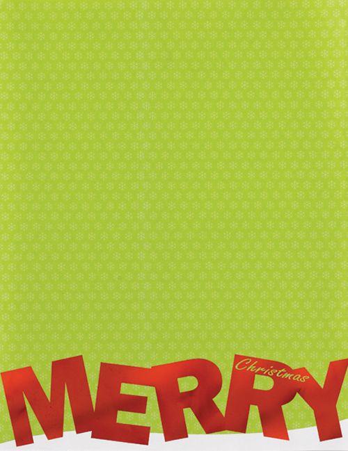 Merry Christmas Foil Christmas Letterhead - 40 Count Christmas