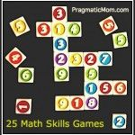 Do you need ideas for summer math fun? 25 FREE and Fun Math Skills Games for Kids to do at home.