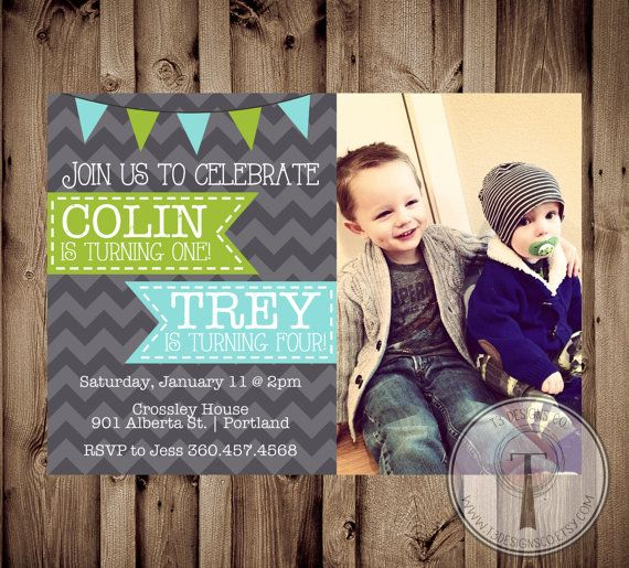 Hey, I found this really awesome Etsy listing at https://www.etsy.com/listing/172774897/joint-birthday-party-invitation-boys