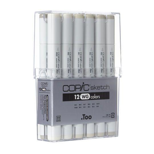 Copic Sketch Marker Set, 12 Color Warm Gray