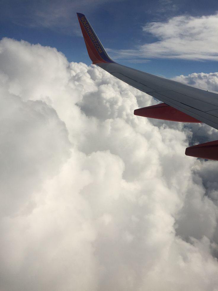 Aerial view from above the clouds between Nevada and ...