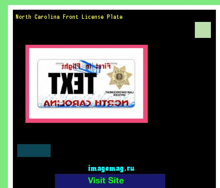 North carolina front license plate 154827 - The Best Image Search