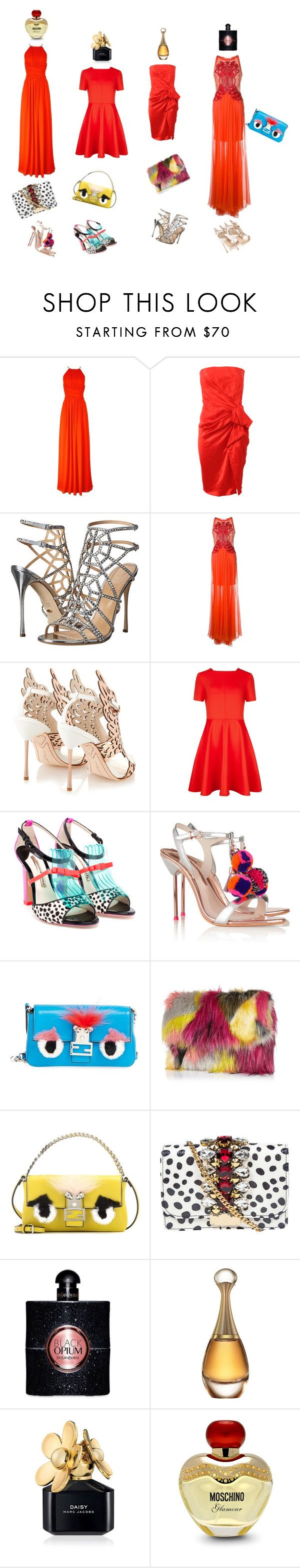 """New Year's Eve Lookbook"" by la-gatta-sul-tetto ❤ liked on Polyvore featuring Reiss, Lanvin, Sergio Rossi, Zuhair Murad, Sophia Webster, Ted Baker, Fendi, River Island, GEDEBE and Yves Saint Laurent"