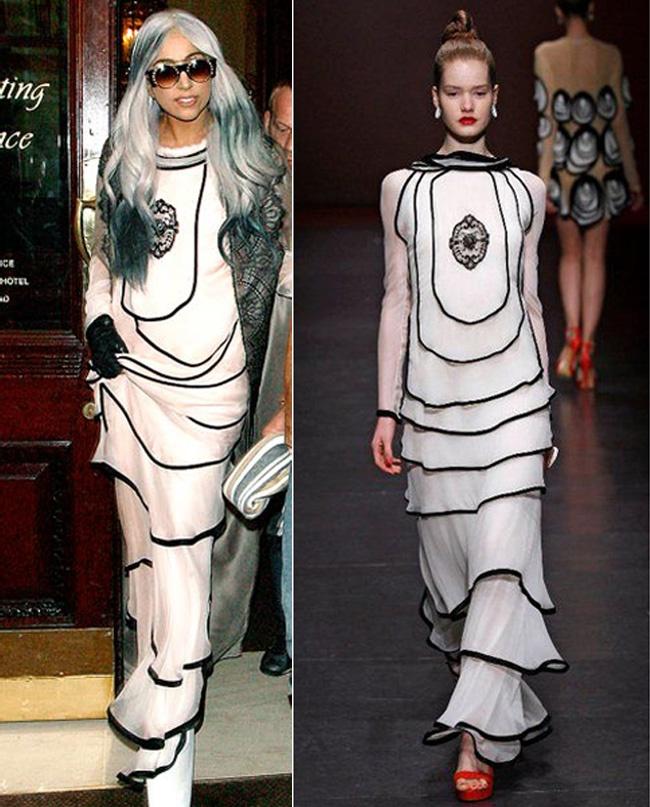 Lady Gaga in Ingrid Vlasov DresS Being & Nothingness: Ingrid Vlasov AW 11/12