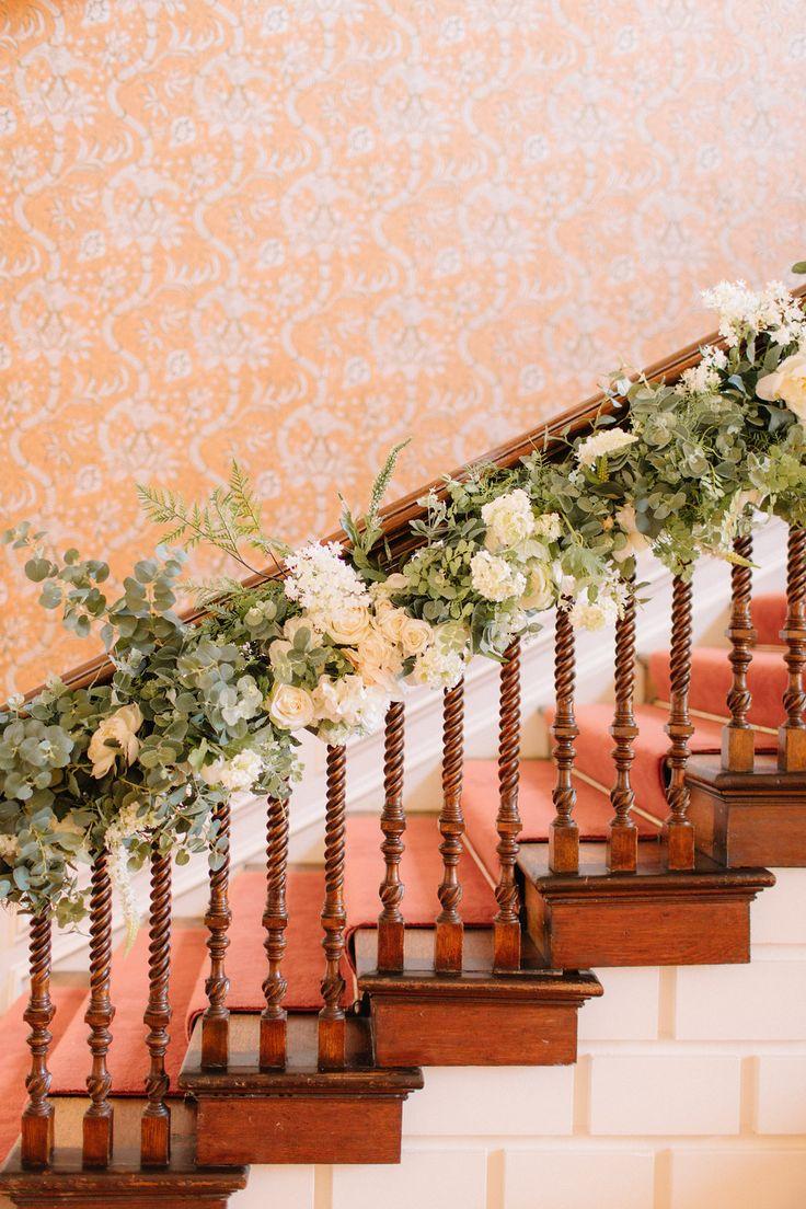 Stairway Swag Wedding Flowers Joanna Carter Wedding Flowers Oxford Oxfordshire Buckinghamshire Berkshire London