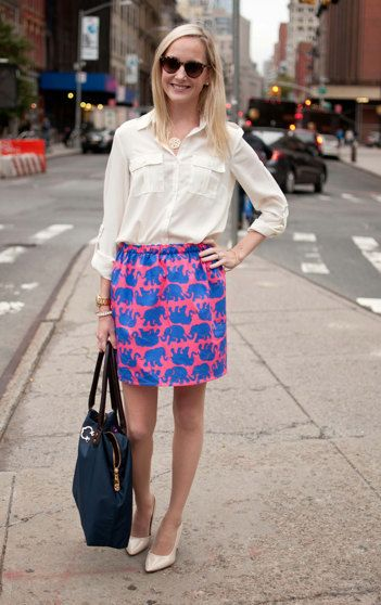 Lilly Pulitzer TUSK IN SUN Elephant Cissy Skirt by PreppyPinkShop, $69.99