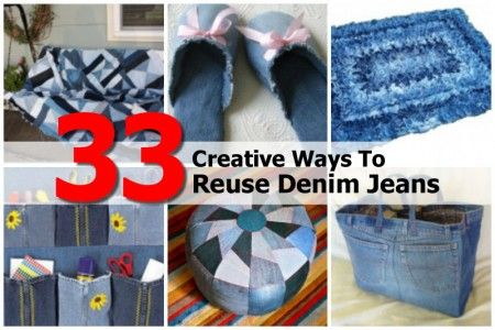 33 Creative Ways To Reuse Denim Jeans