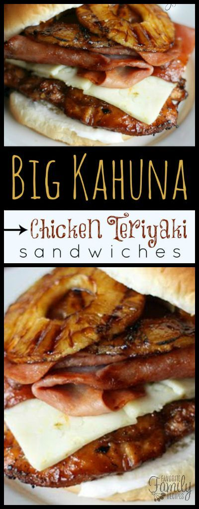 These Big Kahuna Chicken Teriyaki Sandwiches are better than most because they are loaded with sliced ham, grilled pineapple, and Pepper Jack cheese.