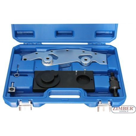 К-т за зацепване на двигатели BMW M52, M54, M56, ZT-05193- SMANN TOOLS.  Contains the tools necessary to assemble and properly time the dluble VANOS camshaft adjustment unit foun in 1998 and later 6 cylinder engines.Applicable: BMW 6 cylinder engine: M52TU (1998-2000), M54 (2001-2004), & M56 (2003 to present).