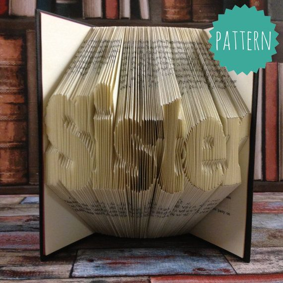 christmas picture art ideas - Folded Book Art Sister Word Pattern & tutorial t by