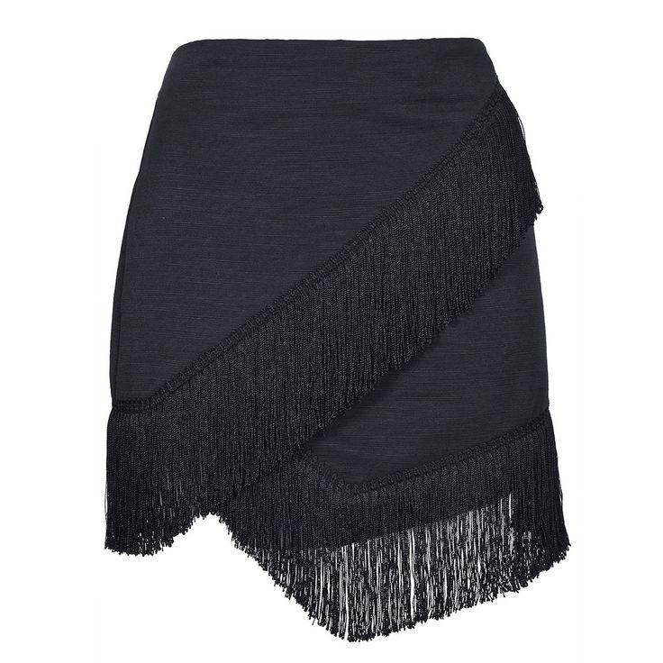 Fringe Trim Wrap Skirt - TOPSHOP
