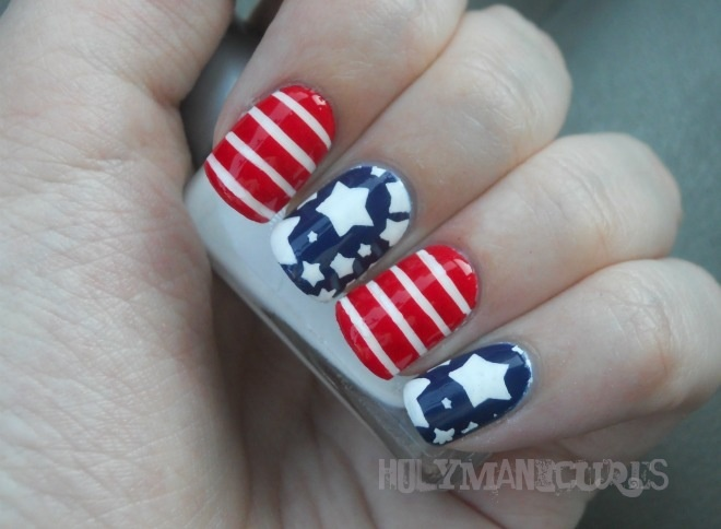 Holy Manicures - 4th of July nails: July Nails, American Flags Nails, Nails Art Ideas, White Nails, 4Th Of July, Holy Manicures, Patriots Nails, American Nails, Fireworks Nails
