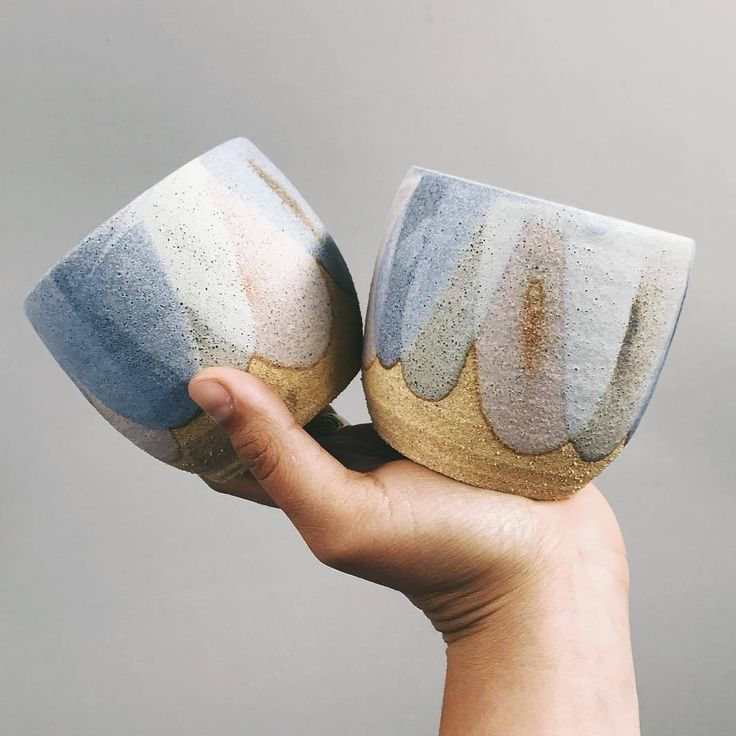 """3,309 Likes, 19 Comments - @love_ceramic on Instagram: """"@Regranned from @clay_by_tina - Sweet pastel cups fresh out of the kiln ready for @finders_keepers…"""""""