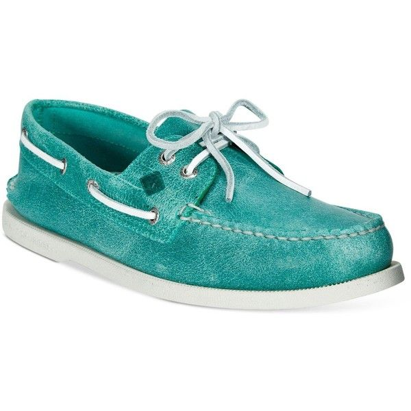 Sperry Men's White Cap Boat Shoes ($95) ❤ liked on Polyvore featuring men's fashion, men's shoes, men's loafers, turquoise, sperry top sider mens shoes, mens leather boat shoes, mens white shoes, sperry mens shoes and mens caps