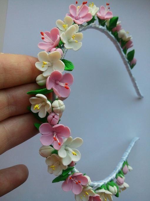 DIY clay flower headband by Jersica