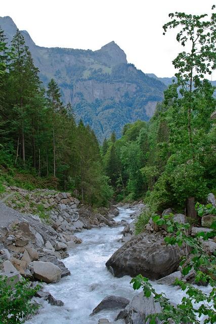 Glacier Stream Engelberg World Most Beautiful Place Scenery