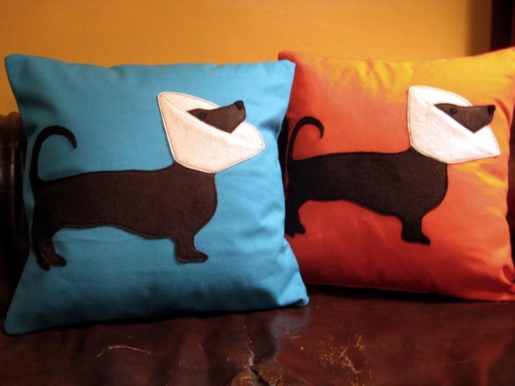 Cone Dog Pillow *No Cushion* / Dotson Pillow / Doxie