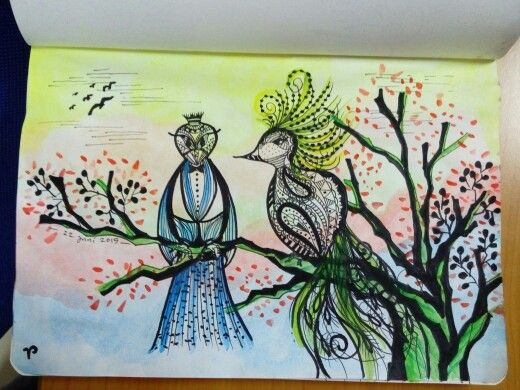 Church Birds...oneday in the afternoon #day5 #doodlelover #ramadhanmubarak #30daysofchallangehavefuninramadhan #dkvtrilogi #fiktrilogi #trilogi #indonesia