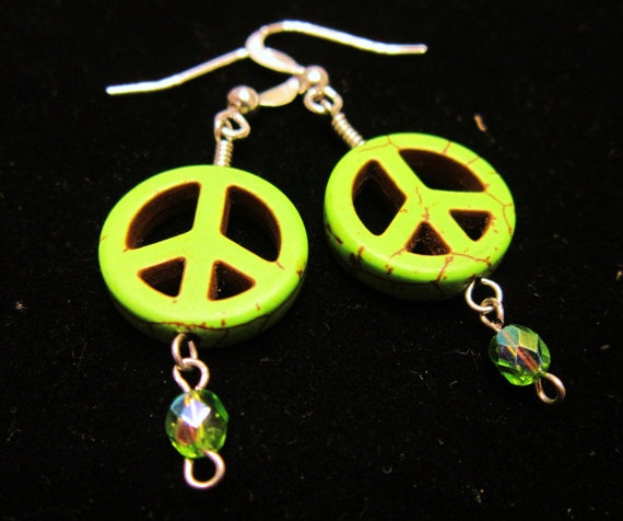 72 best Peace sign earrings images on Pinterest | Peace ...