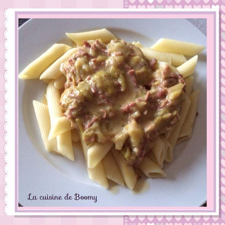 Penne sauce poireaux / vache qui rit WW (Cookeo)  - La cuisine de Boomy