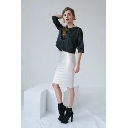 Silver pencil dress #minimalism #silver