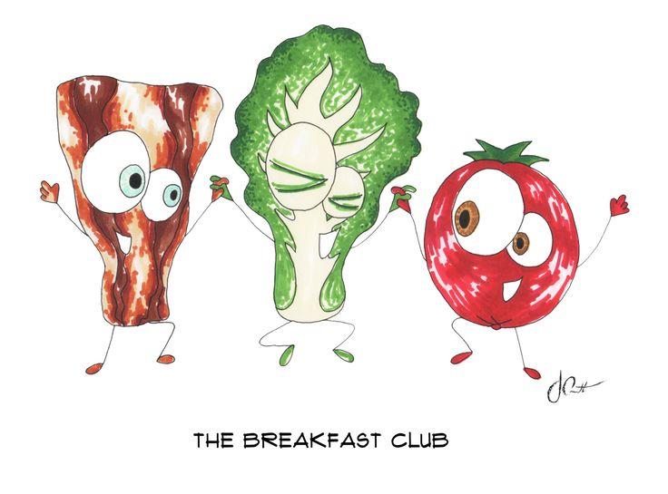 The Breakfast Club | Print | marker on paper | 8x10 || Art ‹ Josephine Condotta
