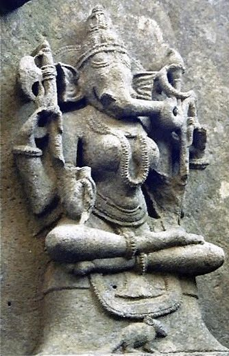 Suchindram - There rare female form of Vinayaka (Ganesha) here is known as Vigneshwari, or Vallabha Ganeshaani, as described in the Mantra Shastras. This Ganeshaani murti in sukhasana pose at Suchindram is one of only a few, the others being at a 10th century temple dedicated to 64 yoginis in Bheraghat, near Jabalpur, and one at the Tanumalaya Swami Temple in Suchindrum, Kerala. In Tibet, this female form of Ganesh is worshiped as Gajanani.