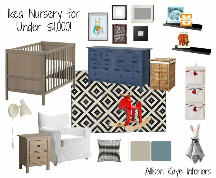 Ikea Baby Nursery for Under $1,000! Nursery e-design using all Ikea furniture in neutral shades.