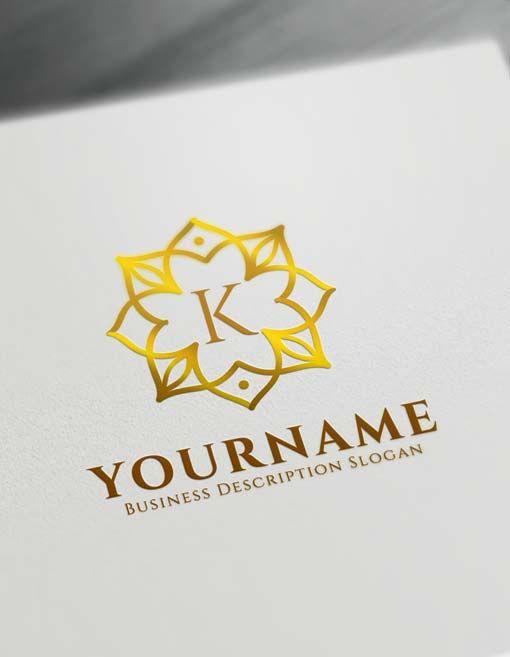Vintage Logo Creator  Free Letter Logo Decor Maker
