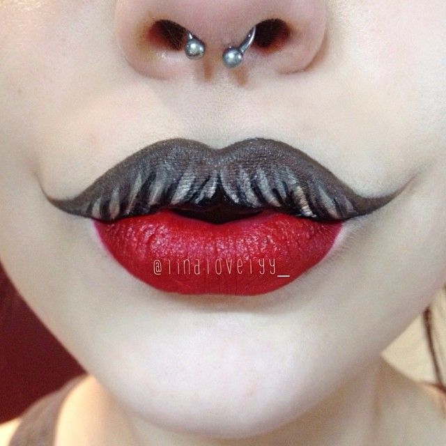 how to make a makeup mustache