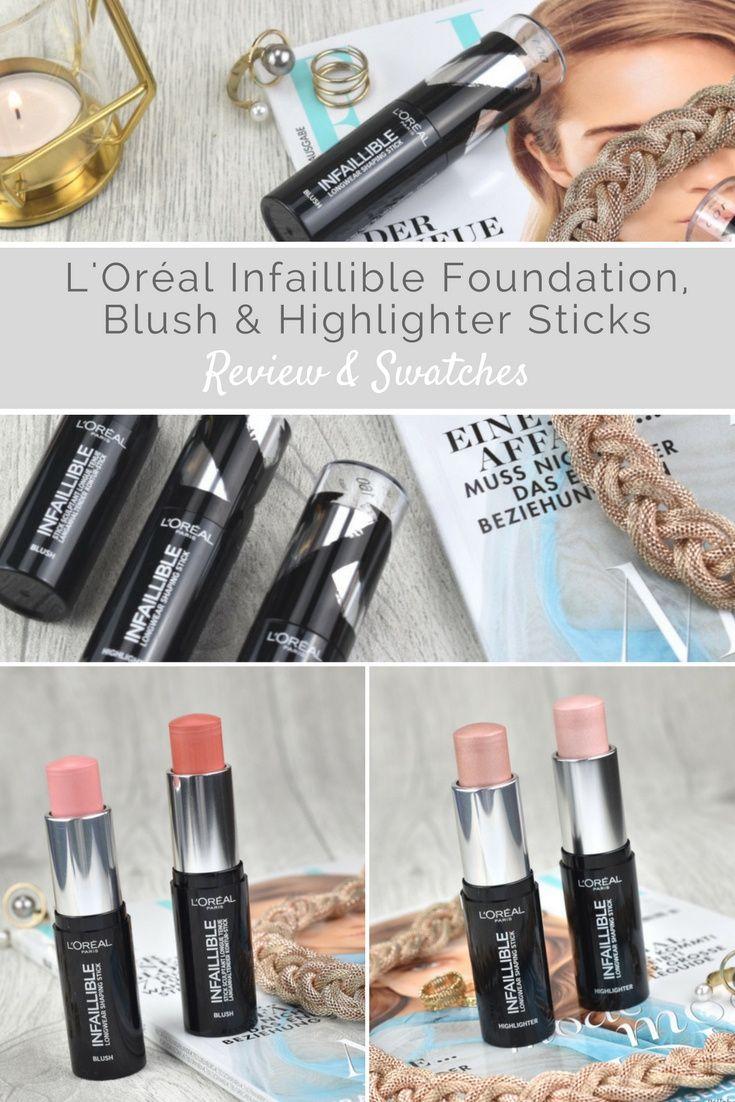 Ich zeige euch die neuen INFAILLIBLE Shaping Sticks von L'Oréal im Detail #loreal #cosmetic #makeup