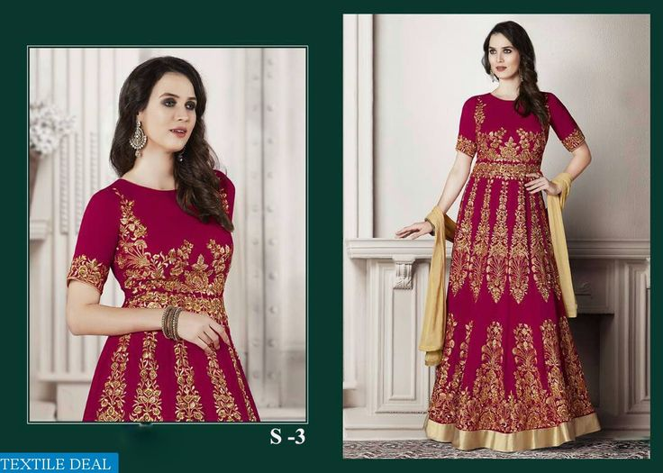 Shop Now Shubh Wholesale Featured Designer #AnarkaliSuits Catalogs Collection with Best Rate at @textiledeals #TextileDeal #WomensClothing #Anarkali