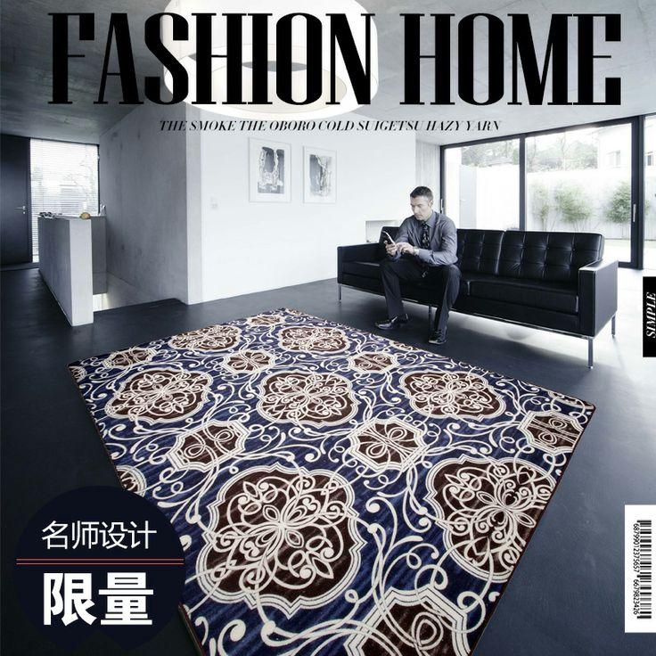 Европейские тенденции моды современной гостиной журнальный столик диван офиса ден магазин для большой одеяло синий ковер коврики - Taobao