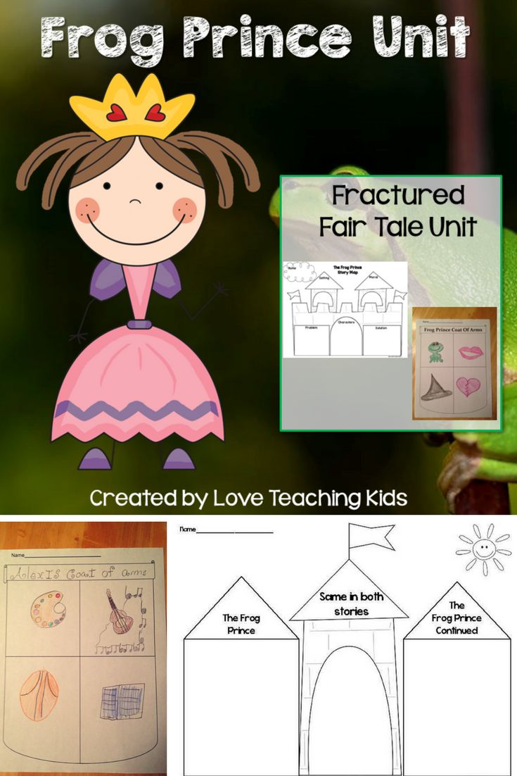"""If you enjoy reading fractured fairy tales then these activities are for you. This unit includes activities to do with the fairy tale """"The Frog Prince"""" and """"The Frog Prince Continued"""" by Jon Scieszka. Story maps and writing activities."""