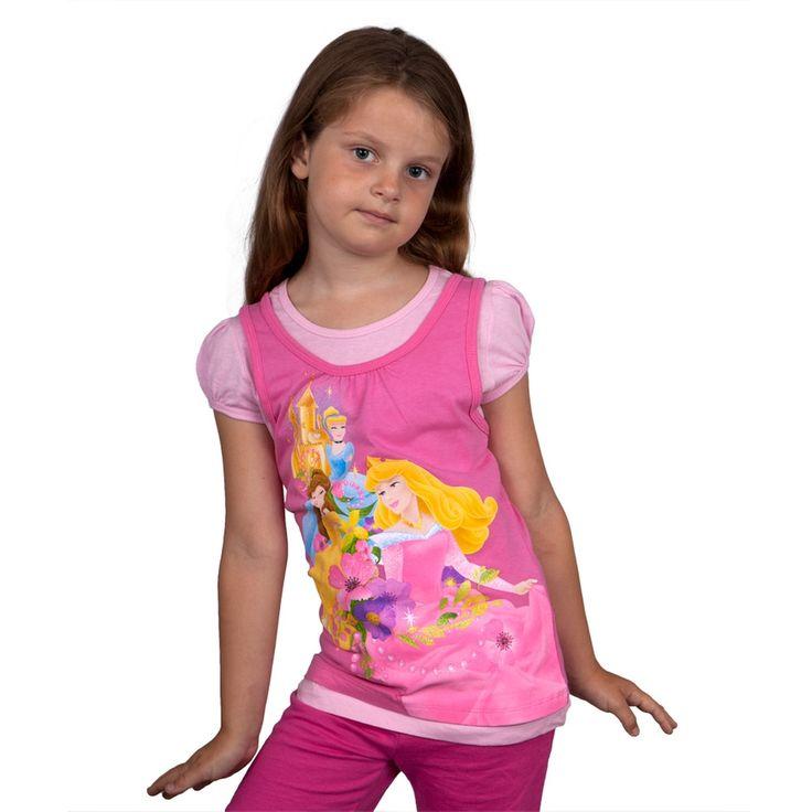 Disney Princesses - Castle Garden Girls Juvy Short Sleeve 2fer
