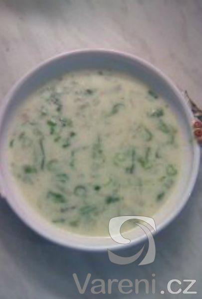 Sytá, ale jemná smetanová polévka s fazolkami.