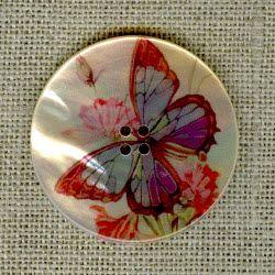 Nacre imprimée Papillon multicolor