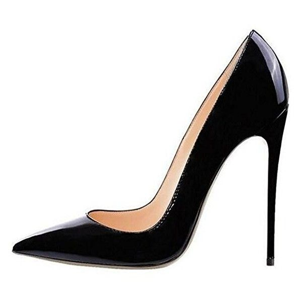Jushee Women's Closed Pointed Toe Stiletto High Heels for Wedding... ($33) ❤ liked on Polyvore featuring shoes, pumps, stilettos shoes, high heeled footwear, pointed toe shoes, stiletto pumps and stiletto heel pumps