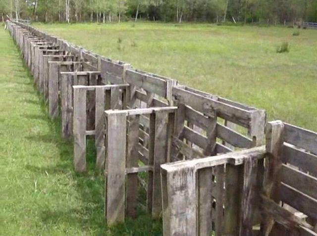 16 Wood Pallet Fence Ideas