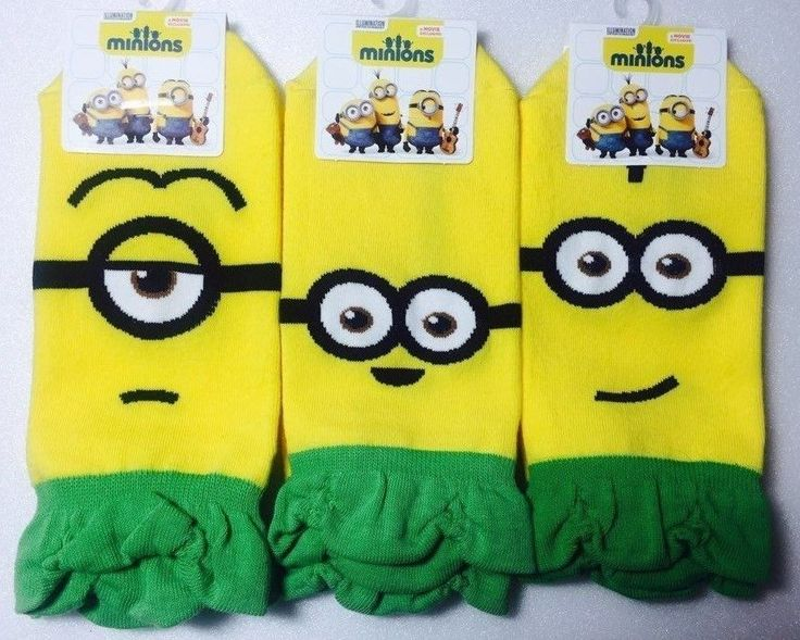 New Unisex Despicable Me Hawaiian Minions Character Banana Cotton Socks_3options