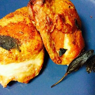 LCHF  Duck Fat Fried Chicken with Sage