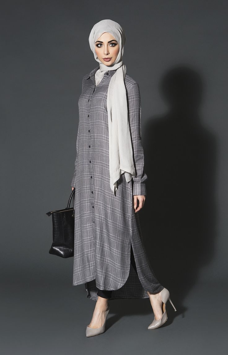 Smart Tweed Shirt Dress | Aab #hijab